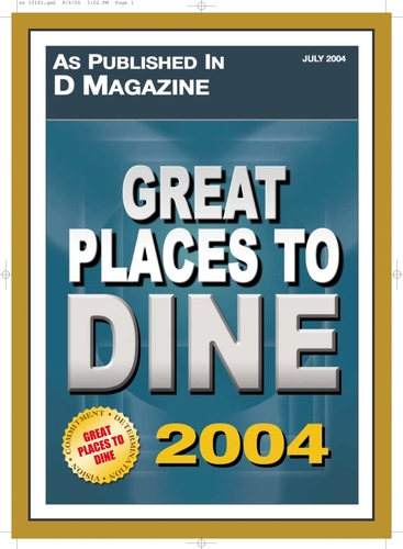 D Magazine: Great Places to Dine 2004